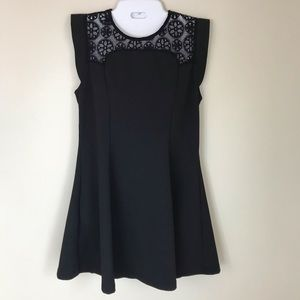 Nordstrom Elodie Black Flare LBD with Lacy Top